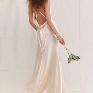 NEW Reformation Sky Dress Ivory Maxi Dress 2